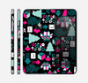 The Pink & Teal Owl Collaged Vector Shapes Skin for the Apple iPhone 6 Plus