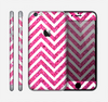 The Pink & White Sharp Glitter Print Chevron Skin for the Apple iPhone 6
