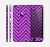 The Purple & Black Sketch Chevron Skin for the Apple iPhone 6 Plus