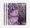 The Purple & White Butterfly Elegance Skin for the Apple iPhone 6 Plus