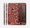 The Red & Brown Creative Flower Pattern Skin for the Apple iPhone 6 Plus