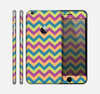 The Retro Colored Green & Purple Chevron Pattern Skin for the Apple iPhone 6 Plus