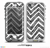 The Sketch Black Chevron Skin for the iPhone 5-5s NUUD LifeProof Case