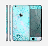 The Subtle Blue & Pink Grunge Floral Skin for the Apple iPhone 6 Plus