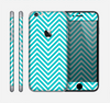 The Trendy Blue & White Sharp Chevron Pattern Skin for the Apple iPhone 6