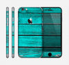 The Trendy Green Washed Wood Planks Skin for the Apple iPhone 6