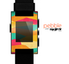 The Vibrant Bright Colored Connect Pattern Skin for the Pebble SmartWatch