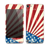 The Vintage Tan American Flag Skin for the Apple iPod Touch 5G