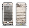 The White Painted Aged Wood Planks Apple iPhone 5-5s LifeProof Nuud Case Skin Set