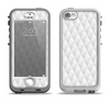 The White Studded Seamless Pattern Apple iPhone 5-5s LifeProof Nuud Case Skin Set