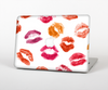 "The White with Colored Pucker Lip Prints Skin Set for the Apple MacBook Pro 13"" with Retina Display"