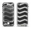 The Wide Black and Light Gray Chevron Pattern V3 Apple iPhone 5-5s LifeProof Nuud Case Skin Set