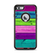 The Wide Neon Wood Planks Apple iPhone 6 Plus Otterbox Defender Case Skin Set