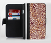The Wild Leopard Print Ink-Fuzed Leather Folding Wallet Credit-Card Case for the Apple iPhone 6/6s, 6/6s Plus, 5/5s and 5c