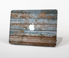 "The Wood Planks with Peeled Blue Paint Skin Set for the Apple MacBook Pro 13"" with Retina Display"