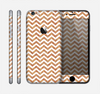 The Wood & White Chevron Pattern Skin for the Apple iPhone 6