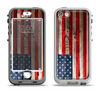 The Wooden Grungy American Flag Apple iPhone 5-5s LifeProof Nuud Case Skin Set