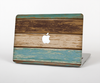 "The Wooden Planks with Chipped Green and Brown Paint Skin Set for the Apple MacBook Pro 13"" with Retina Display"
