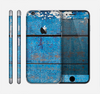 The Worn Blue Paint on Wooden Planks Skin for the Apple iPhone 6