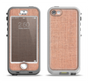 The Woven Burlap Apple iPhone 5-5s LifeProof Nuud Case Skin Set