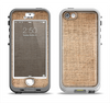 The Woven Fabric Over Aged Wood Apple iPhone 5-5s LifeProof Nuud Case Skin Set