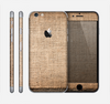 The Woven Fabric Over Aged Wood Skin for the Apple iPhone 6