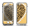 The Yellow Heart Shaped Leopard Apple iPhone 5-5s LifeProof Nuud Case Skin Set
