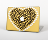 "The Yellow Heart Shaped Leopard Skin Set for the Apple MacBook Pro 13"" with Retina Display"