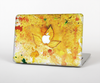 "The Yellow Leaf-Imprinted Paint Splatter Skin Set for the Apple MacBook Pro 13"" with Retina Display"
