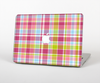 "The Yellow & Pink Plaid Skin Set for the Apple MacBook Pro 13"" with Retina Display"