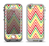 The Yellow & Red Vintage Chevron Pattern Apple iPhone 5-5s LifeProof Nuud Case Skin Set