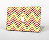 "The Yellow & Red Vintage Chevron Pattern Skin Set for the Apple MacBook Pro 13"" with Retina Display"