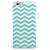 White and Teal Chevron Stripes iPhone 6/6s or 6/6s Plus INK-Fuzed Case