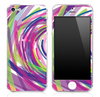 Abstract Color Brushes V5 Skin for the iPhone 3gs, 4/4s or 5