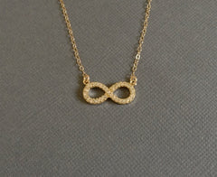 Beautiful Infinity Crystal Necklace