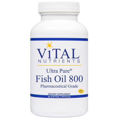 ViTAL nutrients Ultra Pure Fish Oil 800 Pharmaceutical grade 90 softgels