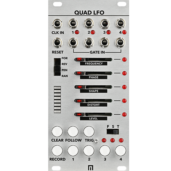 QUAD LFO GENERATOR WITH 16-STEP SEQUENCER