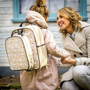 SoYoung Toddler Backpack Raw Linen - Bunny Tile Lifestyle