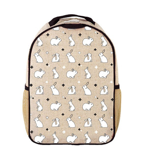 SoYoung Toddler Backpack Raw Linen - Bunny Tile