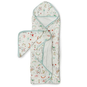 Loulou Lollipop Hooded Towel and Washcloth Set - Llama