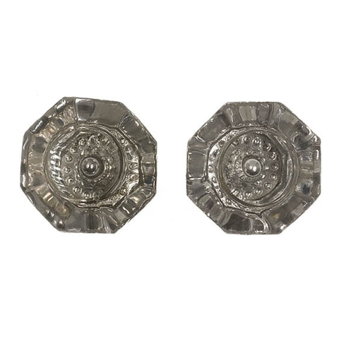 Clear Glass Octagonal Unusual Doorknobs