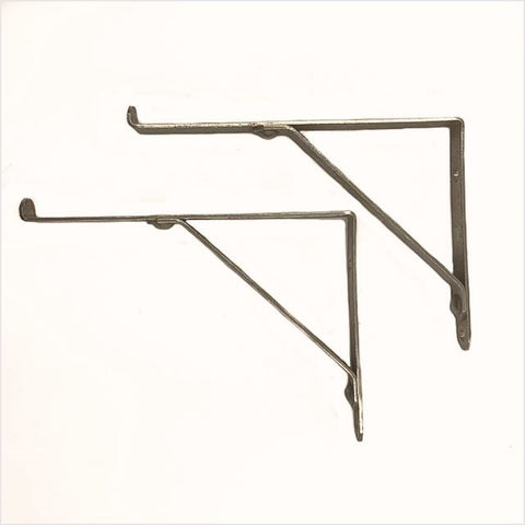Late Deco Chrome Bathroom Shelf brackets