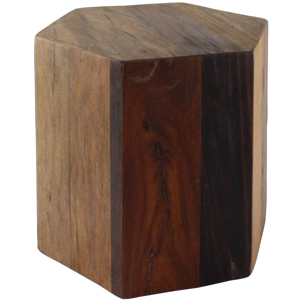 Hexagonal Wood Block Medium