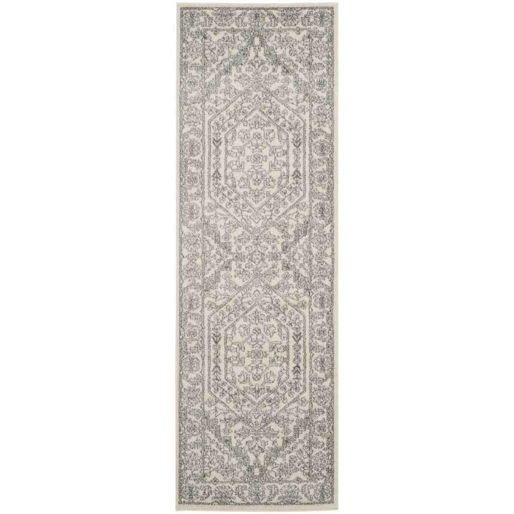 Adirondack Antique Ivory/Silver Runner Rug