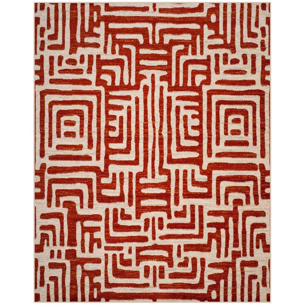 Amsterdam Ivory/Terracotta Area Rug