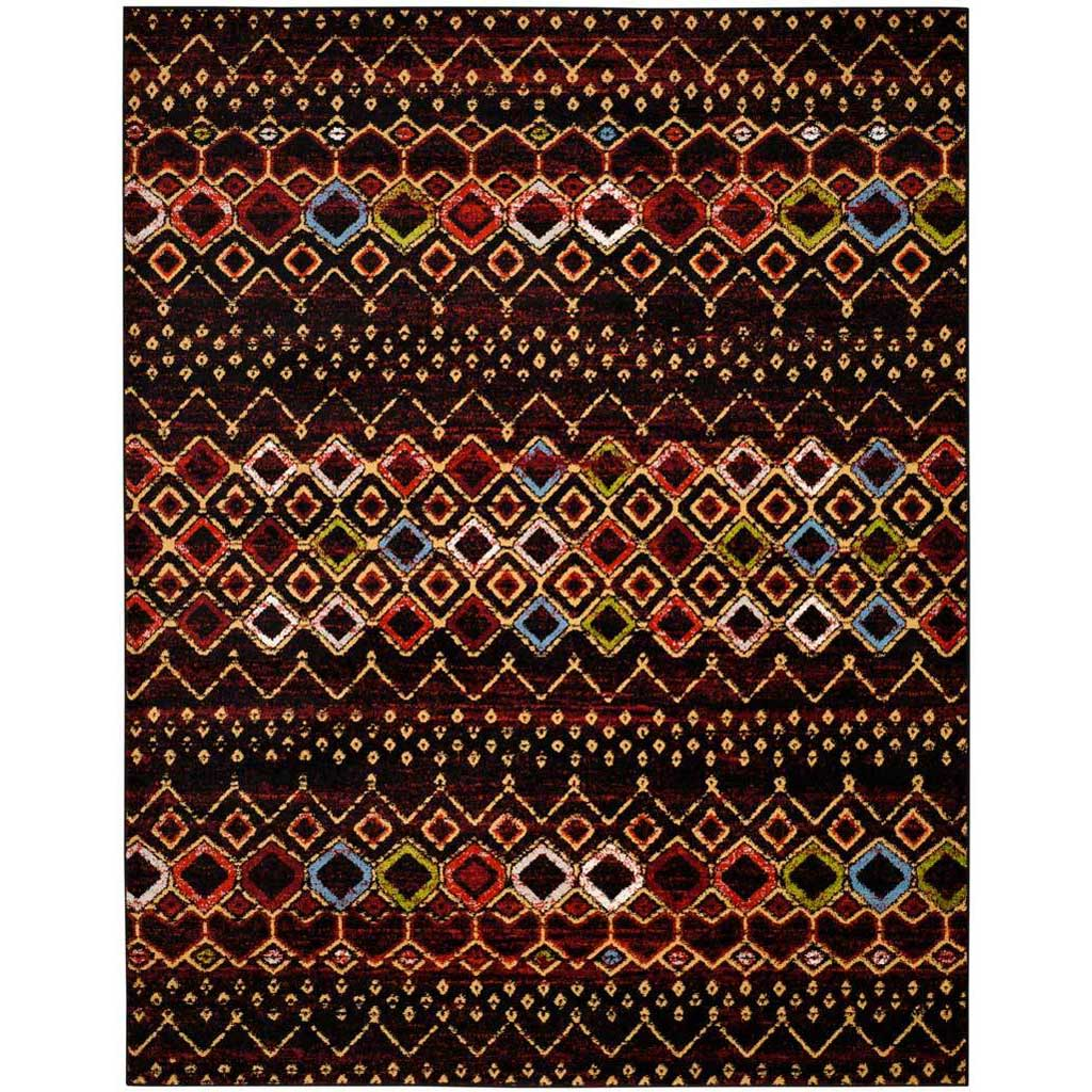 Amsterdam Black/Multi Area Rug