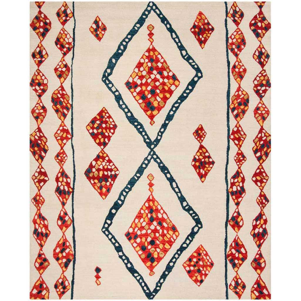 Aspen Ivory/Red/Multi Area Rug