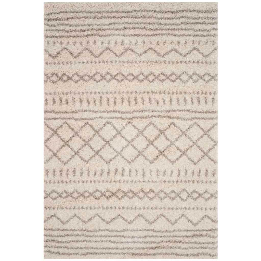 Arizona Shag Tribal Ivory/Beige Area Rug