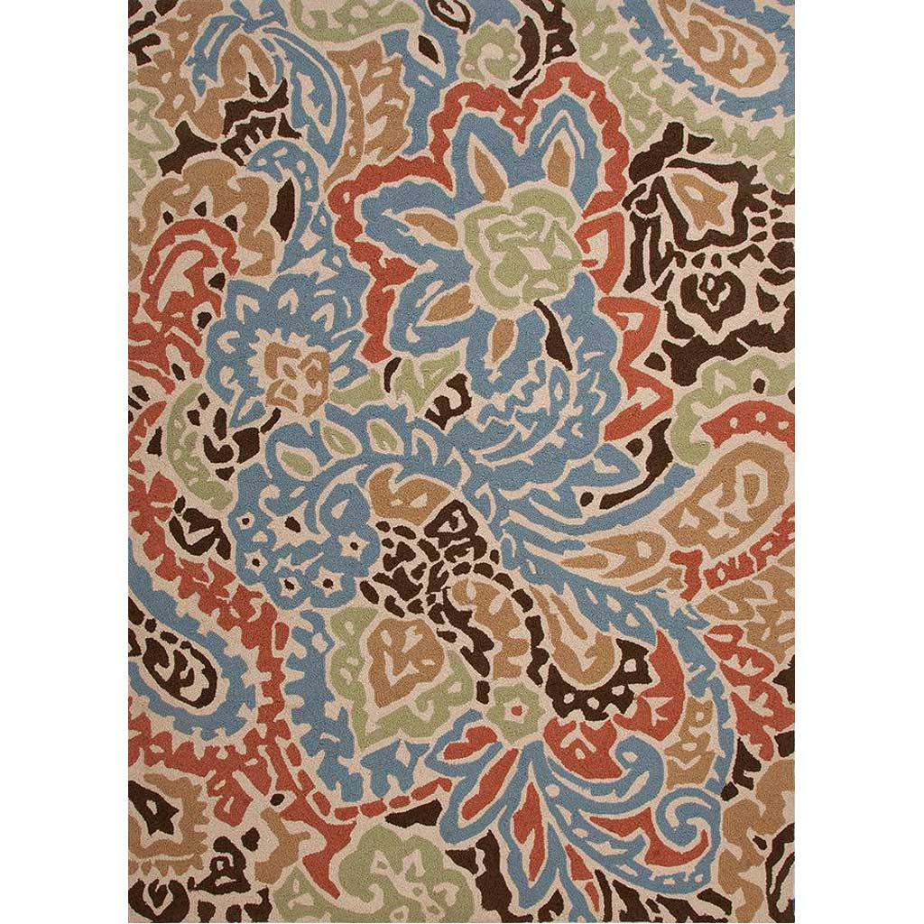 Barcelona Flores Cloud White Area Rug