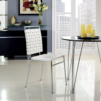Fusion Dining Side Chair White